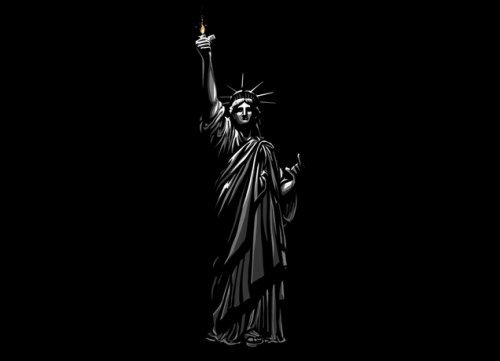 statue of liberty superpower ballad t shirt Top 50 Funny Threadless T Shirts
