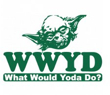what would yoda do t shirt Star Wars WWYD What Would Yoda Do T Shirt from Donkey Tees