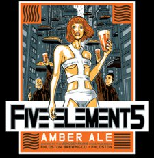 5 elements amber ale t shirt