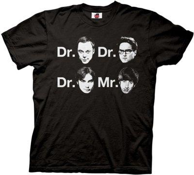 Dr Sheldon Cooper Dr Leonard Hofstadter Dr Raj Koothrappali Mr Howard Wolowitz T Shirt Dr. Sheldon Cooper, Dr. Leonard Hofstadter, Dr. Raj Koothrappali and Mr. Howard Wolowitz T Shirt from TV Store Online