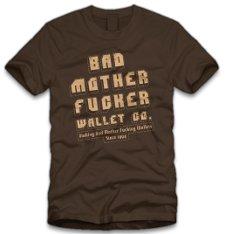 bad mother fucker wallet company t shirt Pulp Fiction Bad Mother Fucker Wallet Company T Shirt from Five Finger Tees