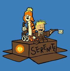 serenite malvin and cobbes t shirt Firefly and Calvin and Hobbes: Malvin and Cobbes T Shirt from 604 Republic