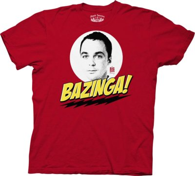 sheldon face bazinga t shirt The Big Bang Theory Sheldon Face Bazinga T Shirt from TV Store Online