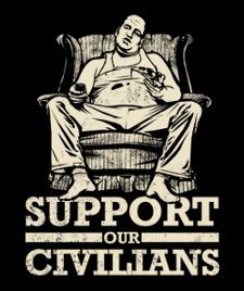 support our civilians t shirt Suppport Our Civilians T Shirt from T Shirt Hell