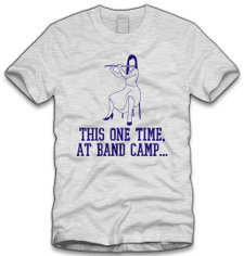 this one time at band camp t shirt American Pie This One Time at Band Camp T Shirt from Five Finger Tees