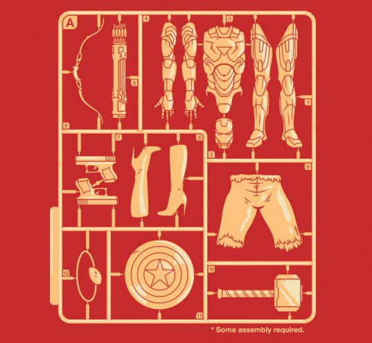 busted tees the avengers t shirt The Avengers Some Assembly Required T Shirt from Busted Tees