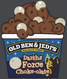 darths force chokeolate t shirt Seven Hundred Ben & Jerrys and Star Wars Mashup T Shirts from Red Bubble