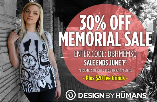 design by humans 30 percent off 05 2012 Design by Humans 30% Off Memorial Day Sale