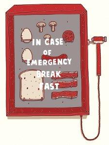 in case of emergency break fast t shirt In Case of Emergency Break Fast T Shirt from Threadless