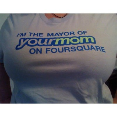 mayor of your mom foursquare t shirt Funny Mother Shirts for Mothers Day