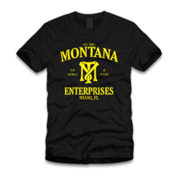 montana enterprises t shirt Scarface Montana Enterprises T Shirt from Five Finger Tees