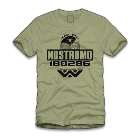 nostromo t shirt Alien: Nostromo T Shirt from Five Finger Tees