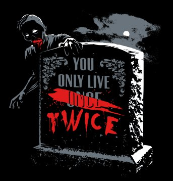 snorg tees you only live twice t shirt Zombie You Only Live Twice T Shirt from Snorg Tees