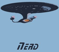 star trek nerd t shirt Star Trek Starship Enterprise Nerd T Shirt from Red Bubble