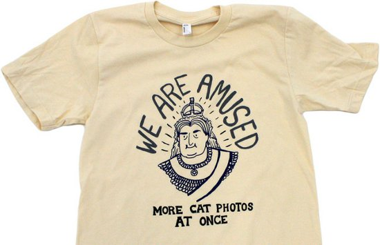 topatoco we are amused more cat photos at once t shirt We Are Amused More Cat Photos At Once T Shirt from Topatoco