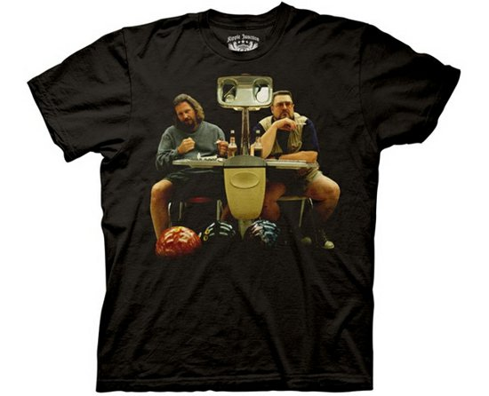 big lebowski bowling t shirt The Big Lebowski The Dude and Walter Bowling from Deez Teez
