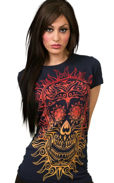 calavera de fuego t shirt Calavera Del Fuego T Shirt from Design By Humans