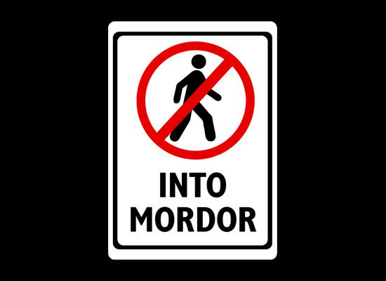 dont walk into mordor t shirt Lord of the Rings Dont Walk Into Mordor T Shirt from Snorg Tees