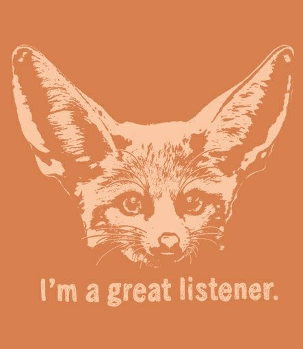 im a great listner fennec fox t shirt Fennec Fox Im a Great Listener T Shirt