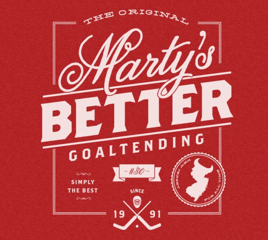 martys better goaltending t shirt Martys Better Goaltending T Shirt from Busted Tees