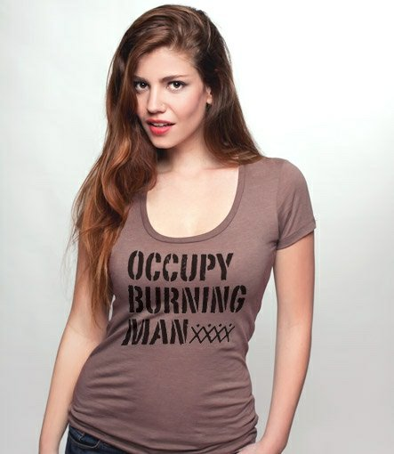 occupy burning man t shirt Occupy Burning Man T Shirt