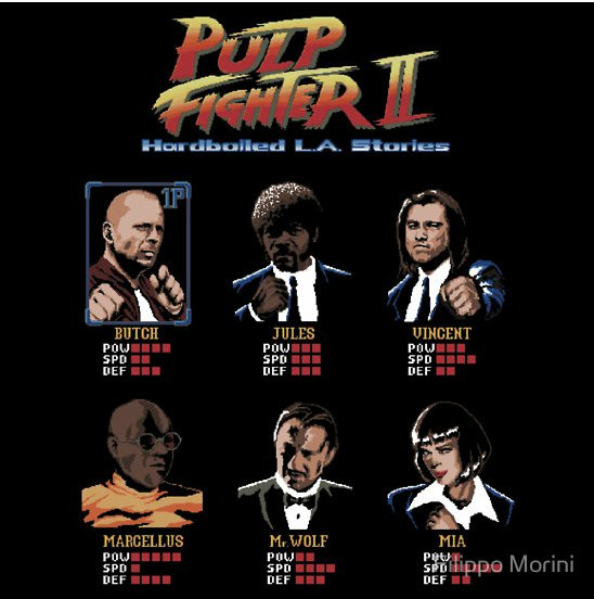 pulp fighter ii t shirt Designer Interview: Filippo Morini