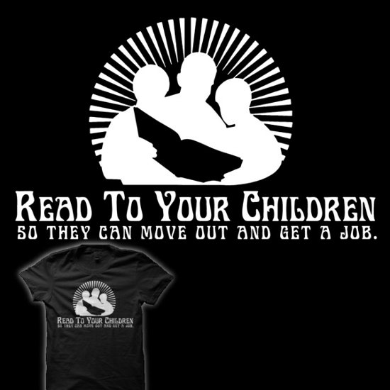 read to your children t shirt Momfia Tees: For All You Mothers