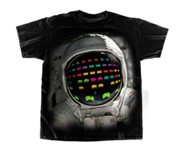 space invader astronaut t shirt Astronaut Space Invaders T Shirt from Deez Teez