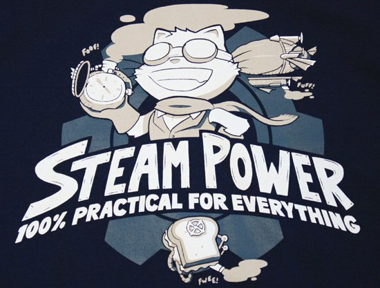 steam power 100 percent practical for everything t shirt Steam Power 100% Practical for Everything T Shirt from Topatoco