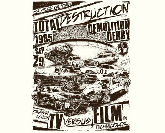 total destruction demolition derby t shirt Total Destruction Demolition Derby T Shirt from Threadless