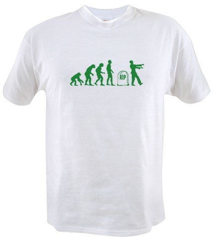 zombie evolution t shirt Zombie Evolution T Shirt from Better Than Pants