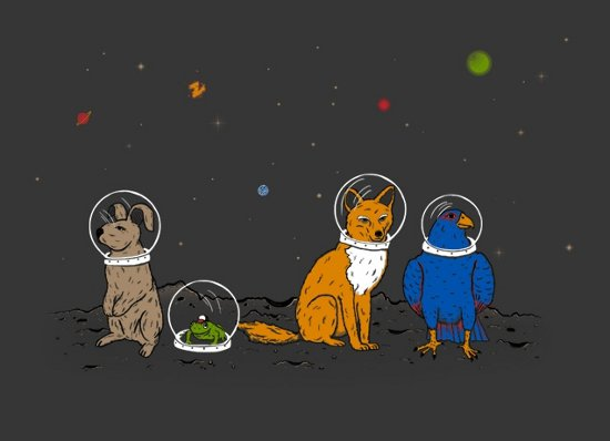 animals in space t shirt Do a Barrel Roll T Shirt