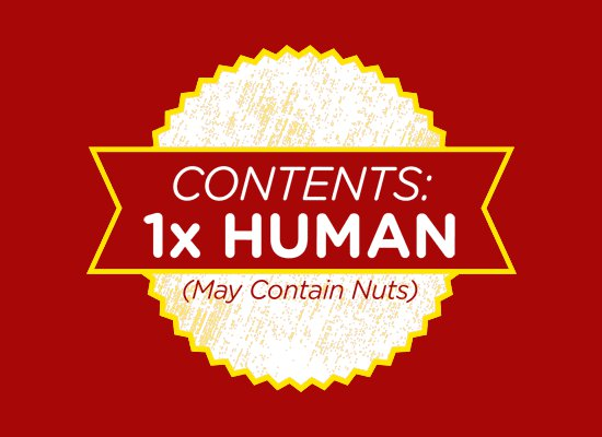 contents 1x human may contain nuts t shirt Contents 1X Human (May Contain Nuts) T Shirt