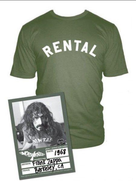 frank zappa rental t shirt Frank Zappa Rental T Shirt