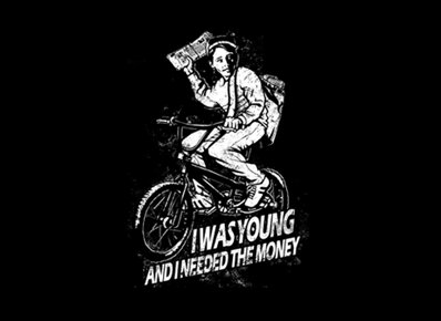 i was young and needed the money t shirt Paper Boy I Was Young and Needed the Money T Shirt