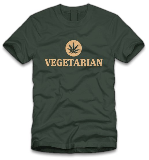 pot vegetarian t shirt Marijuana Vegetarian T Shirt