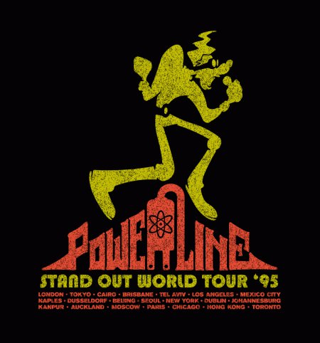 powerline stand out world tour t shirt A Goofy Movie Powerline World Tour T Shirt