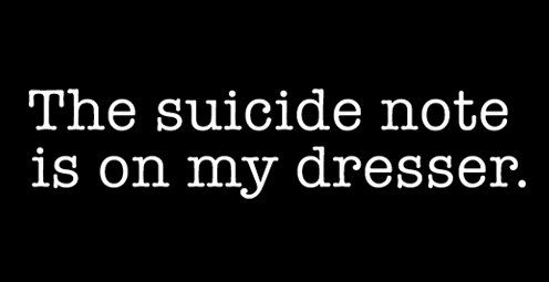 the suicide not is on my dresser t shirt The Suicide Note Is On My Dresser T Shirt
