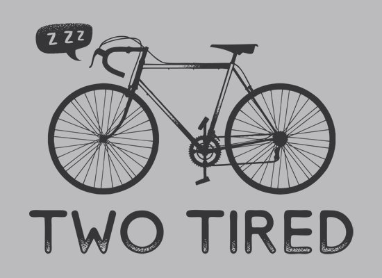 two tired t shirt Bicycle Two Tired T Shirt