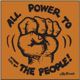 all power to the people t shirt Keep On Truckin Apparel One Day Sale