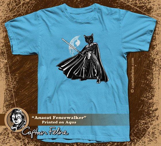 anacat fencewalker t shirt Captain Feline T Shirt Series Kickstarter