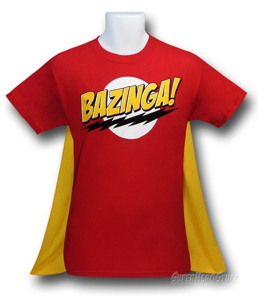bazinga cape t shirt Big Bang Theory Bazinga T Shirt with Cape