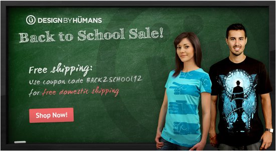 design by humans back to school deal 2012 Design By Humans Back to School Deal 2012