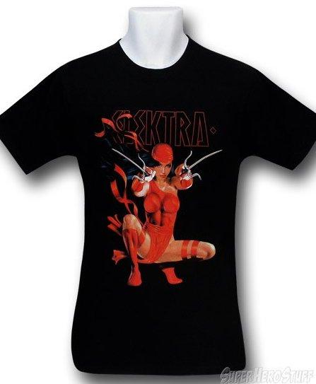elektra t shirt Crouching Elektra T Shirt