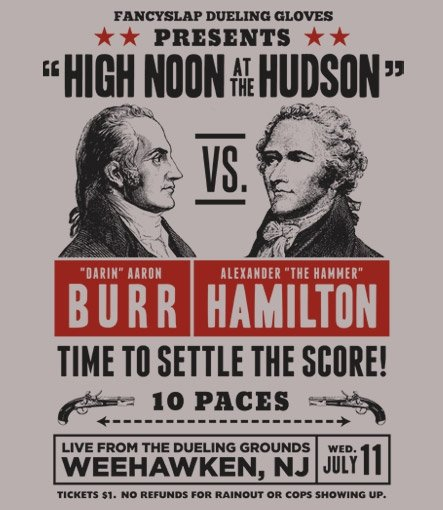 high noon at the hudson t shirt Burr Vs. Hamilton High Noon at the Hudson T Shirt