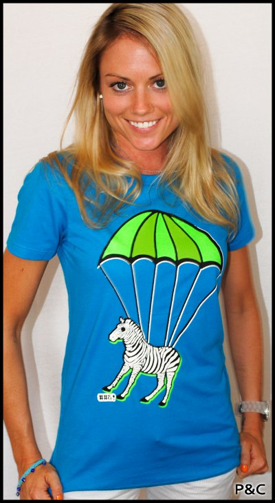 parachute zebra t shirt Parachute Zebra T Shirt