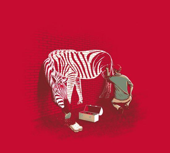 white stripes t shirt Zebra White Stripes T Shirt