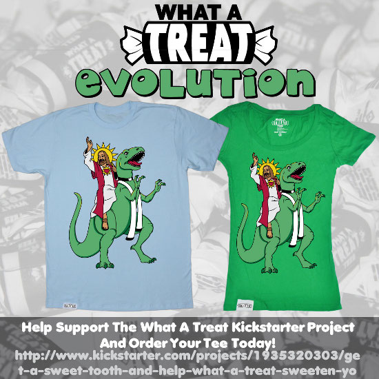 Evolution Kickstarter Promo What a Treat: Shirt Shop Interview