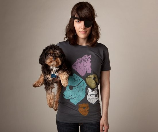 animals with eye patches t shirt Animals With Eye Patches T Shirt
