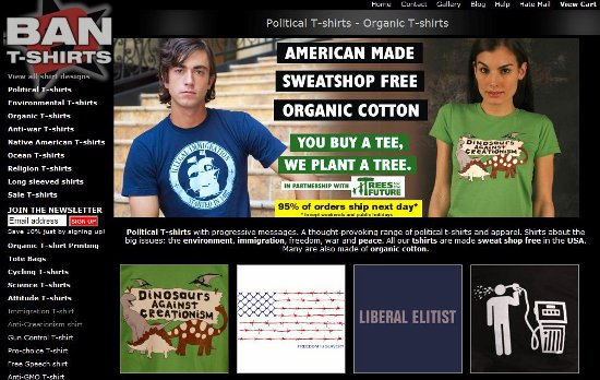 ban t shirts home page Ban T shirts: Shirt Shop Interview
